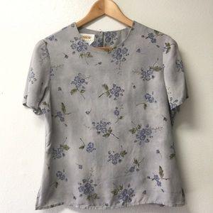 Talbot silk floral lavender top